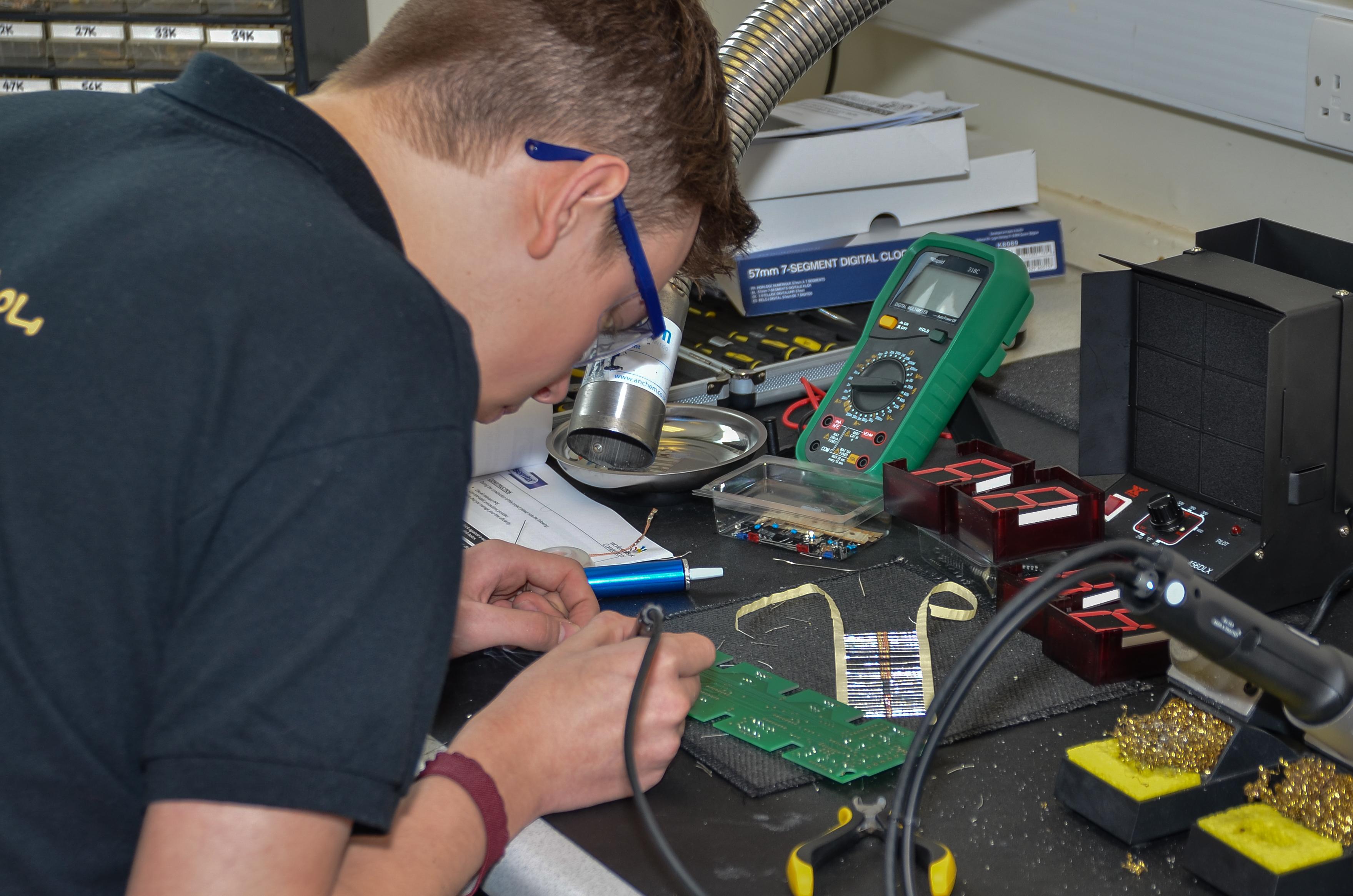 College Hosts Worldskills Industrial Electronics Regional Heat Electronic Wiring