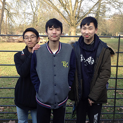 Phillip, Jack & Leo (China) at Magdalene College, Oxford – Feb 2018