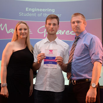 Mariusz Gawarecki, Engineering Student of the Year