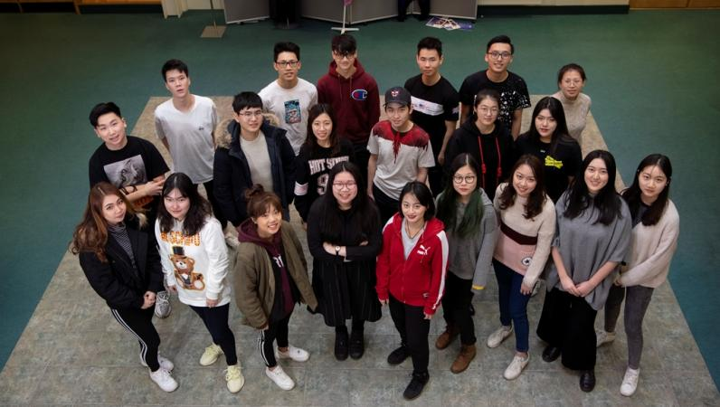 International students celebrating top university offers