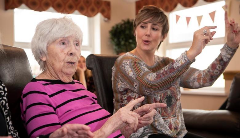 Care home residents enjoy singing workshops