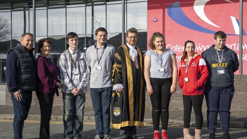 Gower College Swansea welcomes Lord Mayor