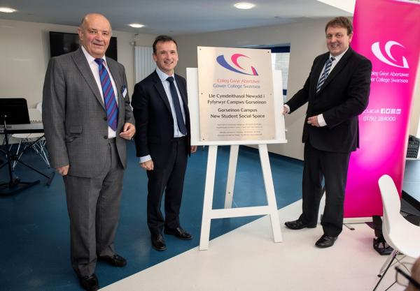 Brand new student facility launched at Gorseinon Campus