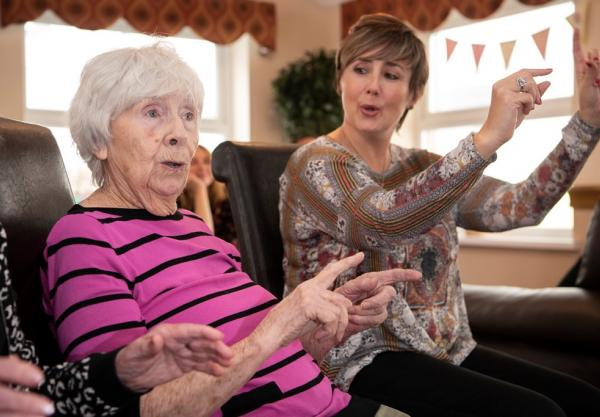 Care home residents enjoy singing workshops