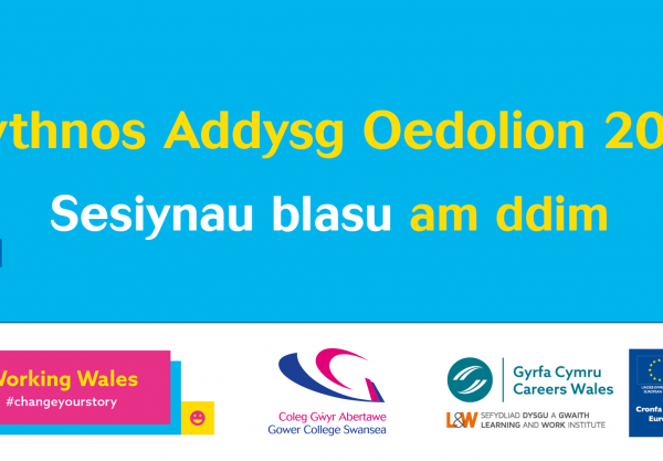 Wythnos Addysg Oedolion 2020 - Sesiynau blasu am ddim