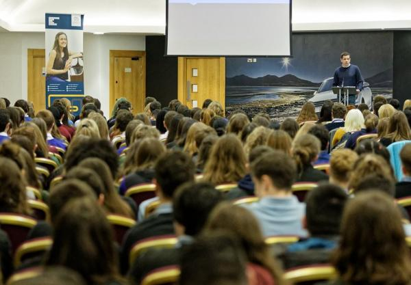 Pupils encouraged to 'aim high' at College event