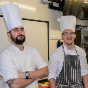 Catering students treated to kitchen skills demo