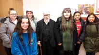 Students meet iconic artist on visit to Swansea