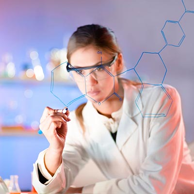 Scientist in lab coat